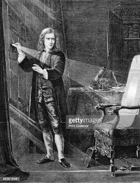 'Newton Investigating Light' c1879 English scientist and mathematician Isaac Newton's discoveries were prolific and exerted a huge influence on...