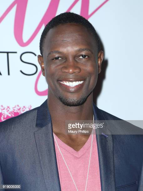 Newton Mayenge attends the 2018 Beauty The Beats Celebrity Party and Panel Discussion at Dream Magic Studios on February 15 2018 in Canoga Park...