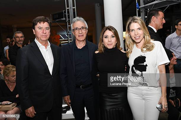 Newton Rocha Osvaldo Nunes Anne Kanner and Marcella Kanner attend Karl Lagerfeld for Riachuelo fashion show during SPFW Summer 2017 at Ibirapuera's...