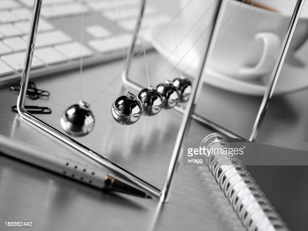 Newton's Cradle on a Office Desk