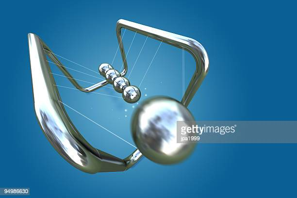 newtons cradle - physics stock pictures, royalty-free photos & images