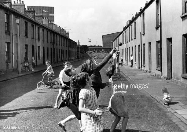 Newtown was a residential area of Cardiff Wales that existed from the midnineteenth century until it was demolished in 1970 Pictured children playing...