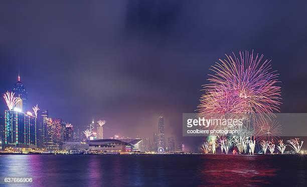 2017 Newyear fireworks in Hong Kong