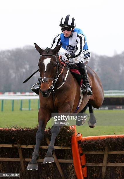 Nexius ridden by Wilson Renwick wins the ApolloBet Enhanced Racing Specials Handicap Hurdle Race during Irish day at Haydock Races on March 18, 2015...