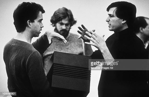 NeXT CEO Steve Jobs during an offsite retreat for NeXT employees in November, 1987. Steve had a very clear vision for the design of the NeXT Computer...