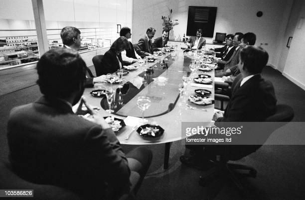 NeXt CEO Steve Jobs in a meeting with Canon CEO Fujio Mitarai in 1989 Canon invested 100 million in NeXT in 1989 and the Canon manufactured...