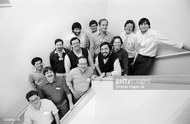 NeXT CEO Steve Jobs with NeXT software developers Palo Alto offices in March 1988 during the first NeXT Developers Conference