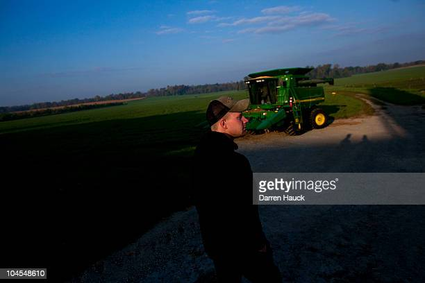Next generation farmer Rick Roden after milking cows at the RobNCin farm on September 29 2010 in West Bend Wisconsin The farm has roughly 400 head of...