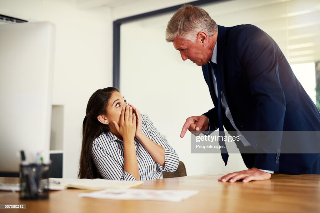 Next time you mess up, you're out! : Stock Photo