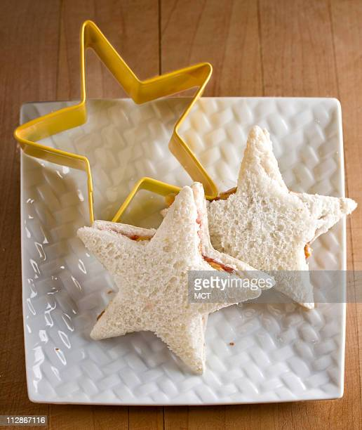 Next time youG¦re in a cookware aisle with your child ask him/her to choose a few large and small cookie cutters to create fun shapes for sandwiches...