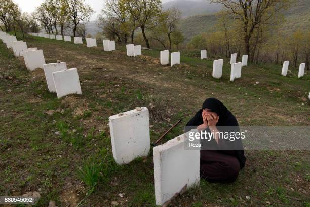 Next to the village, graves have been dug for the Kurds that were killed during the Anfal, a series of genocide campaigns Saddam Hussein led from...