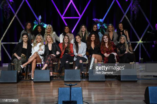 Next Women of Country crew during the 2019 CMT Next Women Of Country Celebration at CMA Theater at the Country Music Hall of Fame and Museum on...
