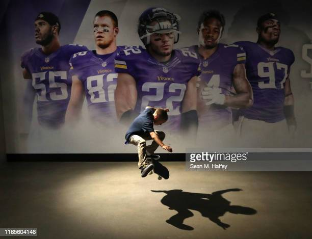 Next X Skateboard Park competitor Kristion Jordan practices in the tunnel of U.S Bank Stadium during the X Games Minneapolis 2019 at U.S. Bank...