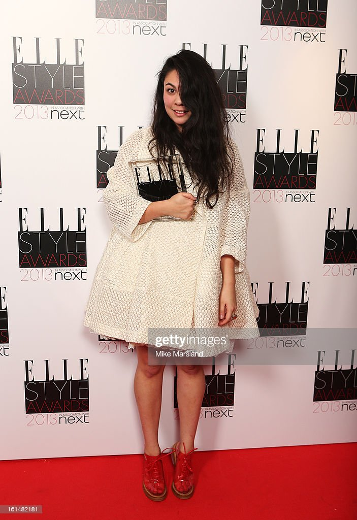 Next Young Designer of the Year winner Simone Rocha poses in the press room at the Elle Style Awards at The Savoy Hotel on February 11, 2013 in London, England.