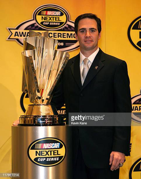 Nextel Cup Champion Jimmie Johnson at the 2006 NASCAR nextel Cup Series Awards Banque held in the main Ballroom of the Waldorf Astoria Hotel in Ney...