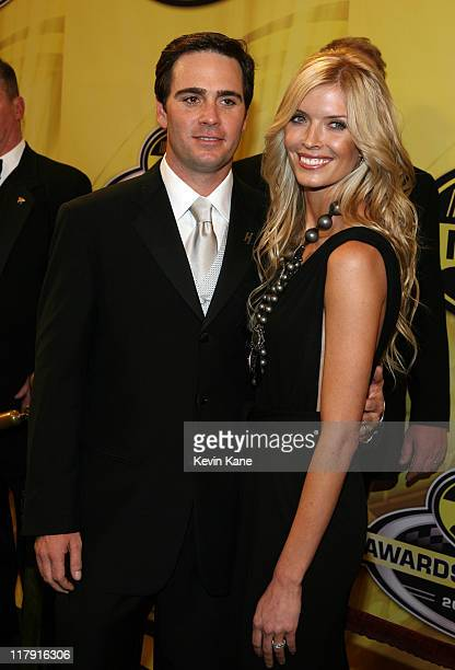 Nextel Cup Champion Jimmie Johnson with his wife Chandra arrive at the 2006 NASCAR nextel Cup Series Awards Banque held in the main Ballroom of the...