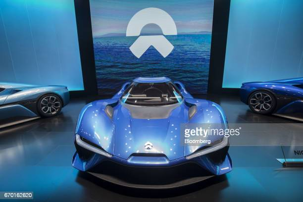 A NextEV Inc Nio EP9 selfdriving concept electric vehicle stands on display at the Auto Shanghai 2017 vehicle show in Shanghai China on Wednesday...