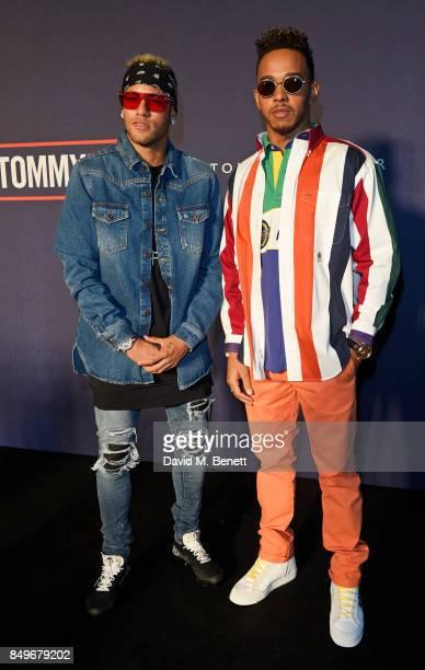 1a4bdb3a3adfb Neymar and Lewis Hamilton attend the Tommy Hilfiger TOMMYNOW Fall 2017 Show  during London Fashion Week