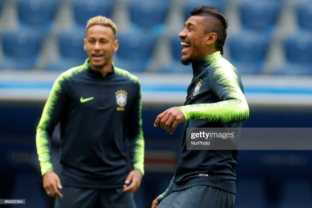 Brazil Press Conference and Training Session - FIFA World Cup 2018