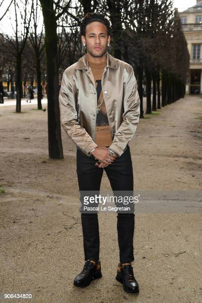 Neymar attends the Louis Vuitton Menswear Fall/Winter 20182019 show as part of Paris Fashion Week on January 18 2018 in Paris France