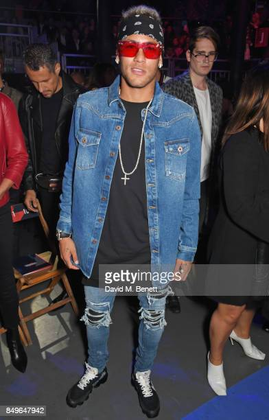 3c399f683ea40 Neymar attends the Tommy Hilfiger TOMMYNOW Fall 2017 Show during London  Fashion Week September 2017 at