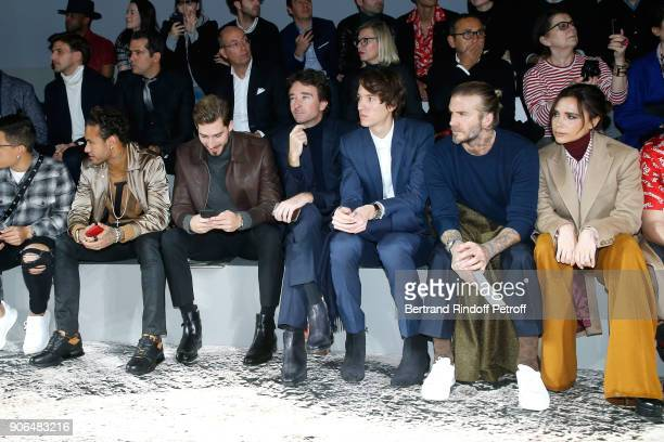 Neymar da Silva Santos Junior aka Neymar Jr Kevin Trapp Antoine Arnault his brother Alexandre Arnault David Beckham and Victoria Beckham attend the...