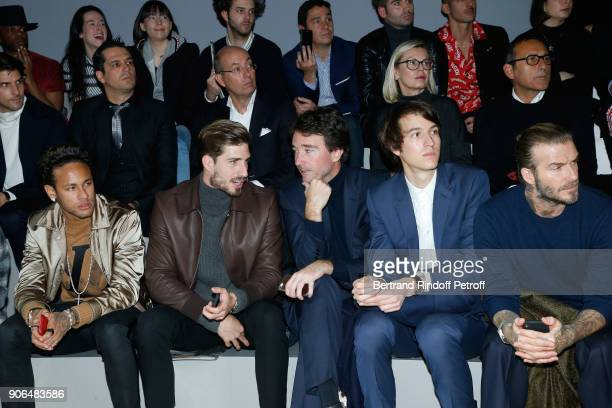Neymar da Silva Santos Junior aka Neymar Jr Kevin Trapp Antoine Arnault his brother Alexandre Arnault and David Beckham attend the Louis Vuitton...