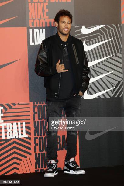 Neymar da Silva Santos Junior attends in celebration of the 20th anniversary of Nike's most iconic football boot some of the world's best footballers...