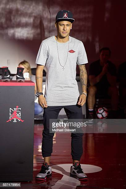 Neymar da Silva Santos Junior attends the Neymar Jr Michael Jordan Collection Celebration at Terminal 23 on June 1 2016 in New York City