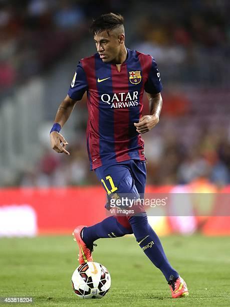 Neymar da Silva Santos Junior Jr of FC Barcelona during the Joan Gamper Trophy match between FC Barcelona and Leon FC at Camp Nou on august 18 2014...