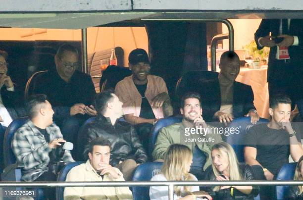 Neymar da Silva Sr Neymar Jr of PSG and Kylian Mbappe of PSG attend the UEFA Champions League group A match between Paris SaintGermain and Real...