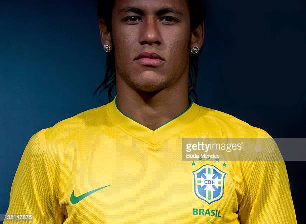 Neymar during Nike Unveils Brazil New Kit at Jockey Club Brasileiro on February 03 2012 in Rio de Janeiro Brazil