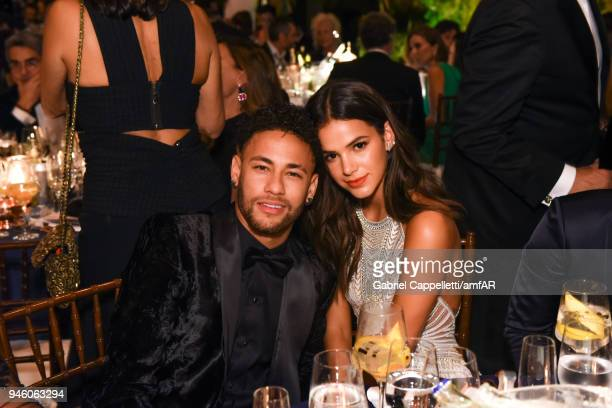 Neymar Jr and Bruna Marquezine attends the 2018 amfAR gala Sao Paulo at the home of Dinho Diniz on April 13 2018 in Sao Paulo Brazil