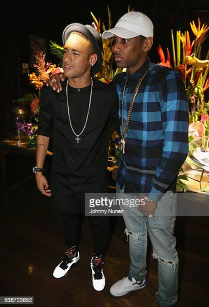 Neymar Jr and Fabolous attends An Intimate Evening With Michael Jordan And Neymar Jr on June 1 2016 in New York City
