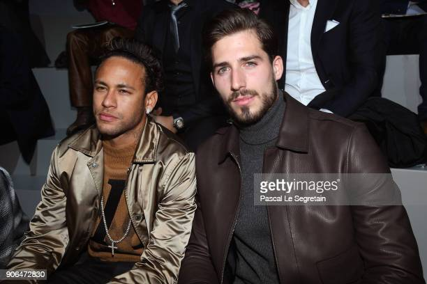 Neymar Jr and Kevin Trapp attend the Louis Vuitton Menswear Fall/Winter 20182019 show as part of Paris Fashion Week on January 18 2018 in Paris France