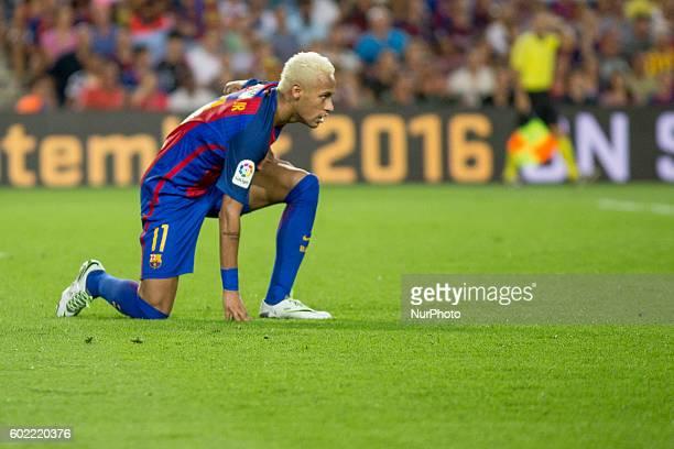 Neymar Jr during La Liga match between FC Barcelona v D Alaves in Barcelona on September 10 2016