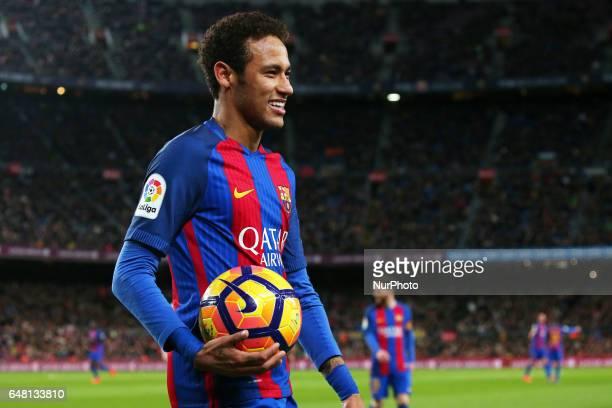 Neymar Jr during La Liga match between FC Barcelona v Real Club Celta de Vigo in Barcelona on march 04 2017