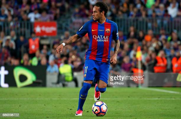 Neymar Jr during La Liga match between FC Barcelona v SD Eibar in Barcelona on May 21 2017