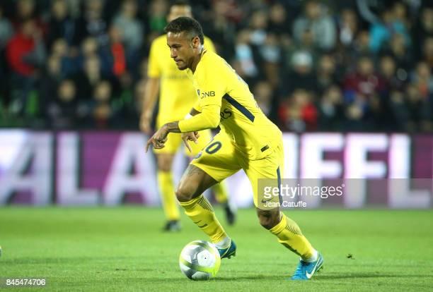 Neymar Jr during the French Ligue 1 match between FC Metz and Paris Saint Germain at Stade SaintSymphorien on September 9 2017 in Metz France