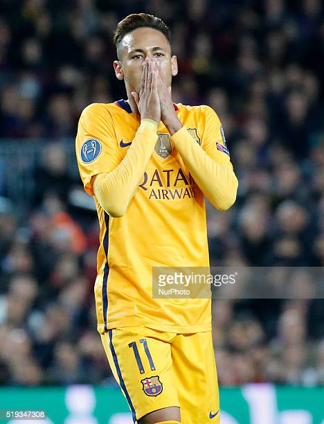 Neymar Jr during the match between FC Barcelona and Atletico de Madrid corrresponding to the first leg of the 1/4 final of the UEFA Champions League...
