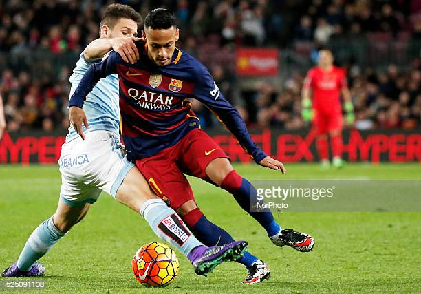 Neymar Jr during the match between FC Barcelona and Real Club Celta de Vigo corresponting to the week 24 of the spanish league played at the Camp Nou...