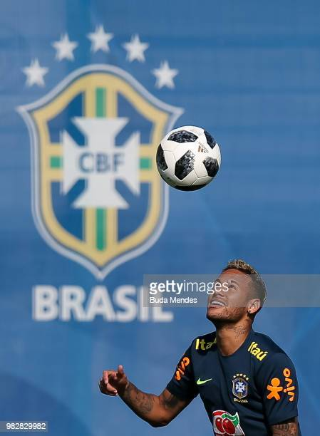 Phillipe Coutinho in action during a Brazil training session at YugSport Stadium on June 24 2018 in Sochi Russia