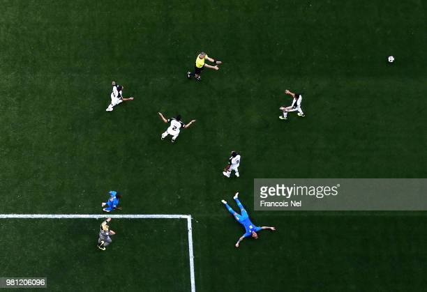 Neymar Jr of Brazil appeals for a penalty during the 2018 FIFA World Cup Russia group E match between Brazil and Costa Rica at Saint Petersburg...