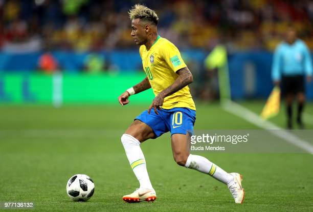 Neymar Jr of Brazil during the 2018 FIFA World Cup Russia group E match between Brazil and Switzerland at Rostov Arena on June 17 2018 in RostovonDon...