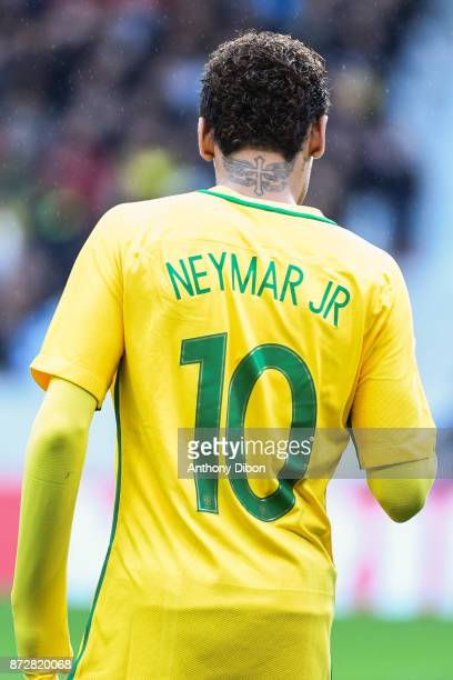Neymar Jr of Brazil during the international friendly match between Japan and Brazil at Stade Pierre Mauroy on November 10 2017 in Lille France