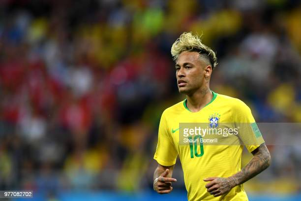 Neymar Jr of Brazil in action during the 2018 FIFA World Cup Russia group E match between Brazil and Switzerland at Rostov Arena on June 17 2018 in...
