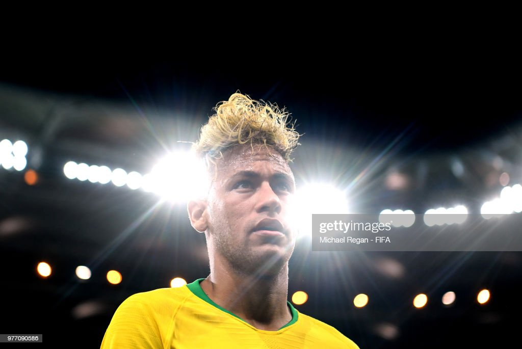 Neymar Jr of Brazil looks on during the 2018 FIFA World Cup Russia group E match between Brazil and Switzerland at Rostov Arena on June 17, 2018 in Rostov-on-Don, Russia.