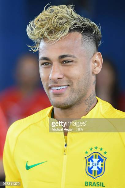 Neymar Jr of Brazil looks on in the tunnel prior to the 2018 FIFA World Cup Russia group E match between Brazil and Switzerland at Rostov Arena on...