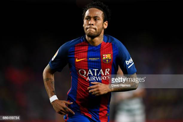 Neymar Jr of FC Barcelona looks on during the La Liga match between Barcelona and Eibar at Camp Nou on 21 May 2017 in Barcelona Spain
