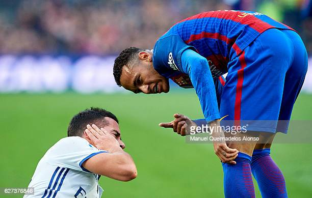 Neymar Jr of FC Barcelona reacts during La Liga match between FC Barcelona and Real Madrid CF at Camp Nou Stadium on December 3 2016 in Barcelona...